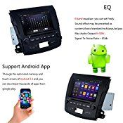 Uunit 8″Quad Core 1024×600 Android 5.1.1 Car DVD for mitsubishi outlander dvd player 2006-2012 BT 3G Wifi RDS Mirror Link with 8G map card