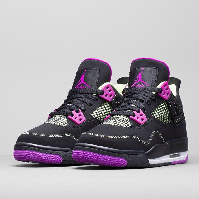 Air Jordan 4 in Black, Pink, and Light Green coming this Spring 2015.