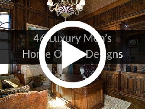 VIDEO: 46 Luxury Men's Home Office Designs #lighting    Checkout  The Mine for all your Home Office needs and supplies.  You don't need a magnificent budget  to produce a great home office. Here are...