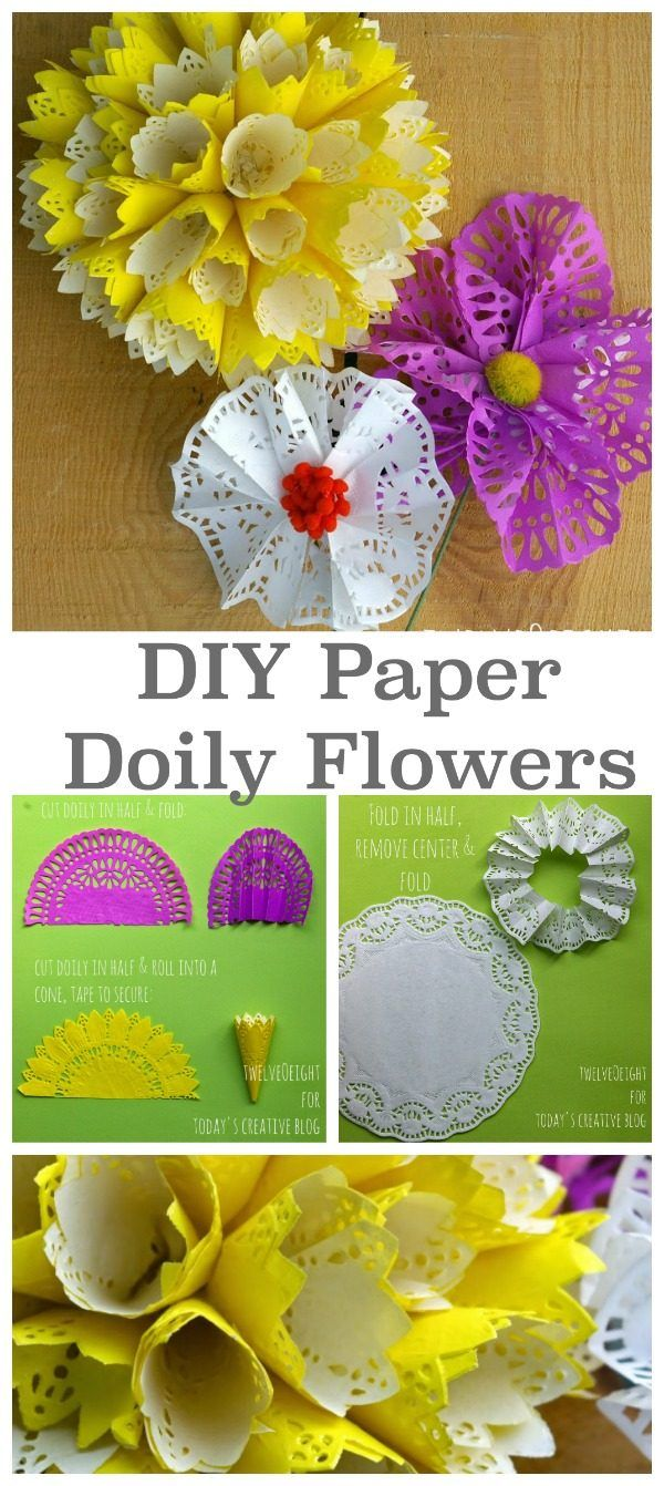 DIY Paper Doily Flowers | Paper doilies, Diy paper and ...