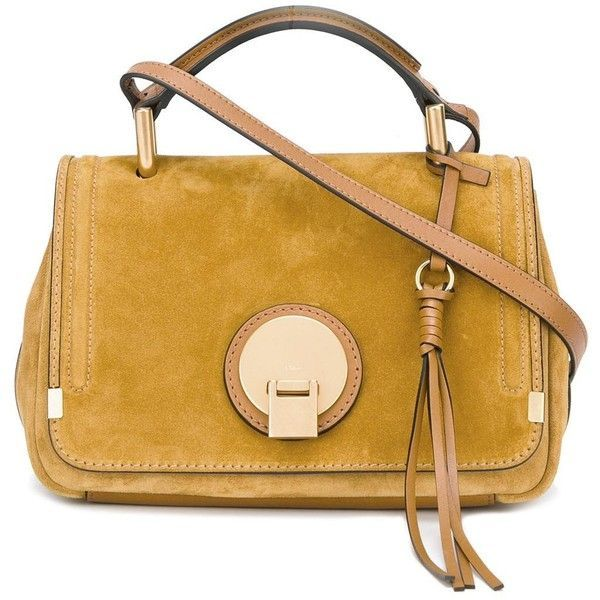 Chloé 'Indy' tote (3,070 BAM) ❤ liked on Polyvore featuring bags, handbags, tote bags, yellow, chloe purses, kiss-lock handbags, yellow tote bag, chloe tote and chloe handbags