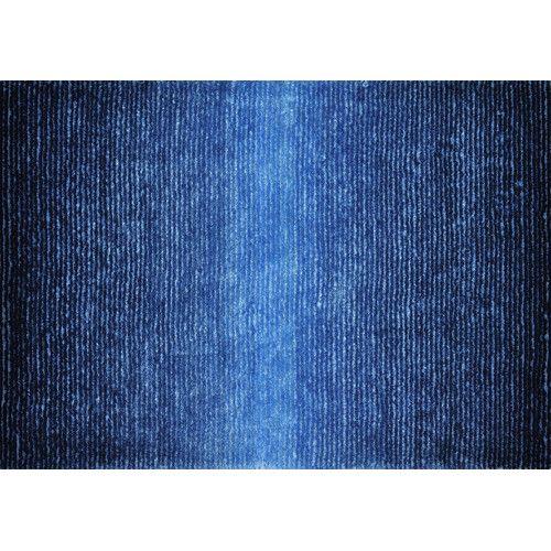 Courtyard Grey Cream Indoor Outdoor Rug Cobalt Blue