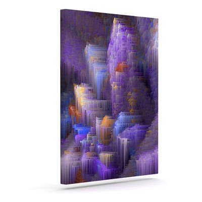 "East Urban Home 'Purple Mountain Majesty' Graphic Art Print on Canvas Size: 12"" H x 10"" W x 2"" D"