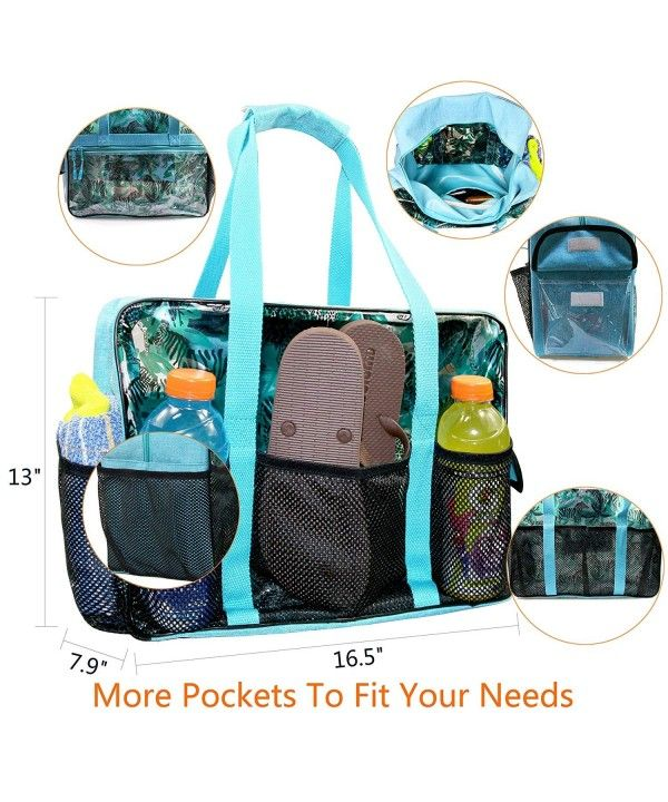 Beach Bag with Multi Pockets Extra Large Waterproof Utility Beach ... c80dd71c1cc5e