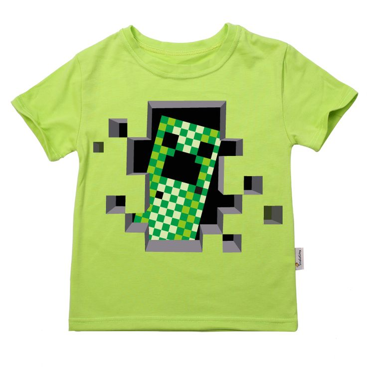 Top Fashion New Arrival Boys Clothes Kids Cotton O Neck Summer Short Sleeve T shirts Boys Minecraft Teenage Tees for 2-14T - free shipping worldwide