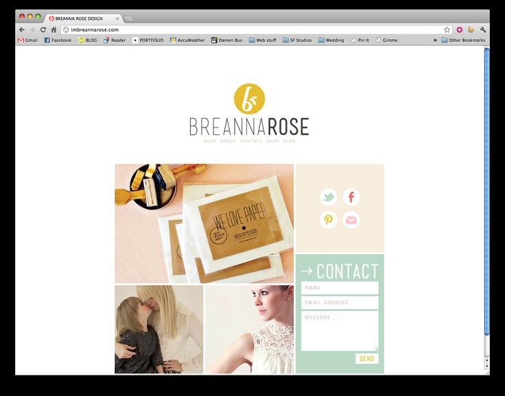 really great portfolio/blog design:  http://imbreannarose.com/