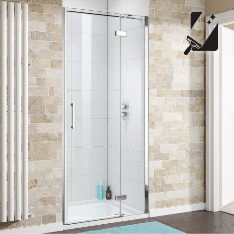 1000mm - 8mm - Premium EasyClean Hinged Shower Door