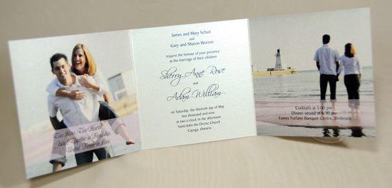 három részre hajtható esküvői meghívó