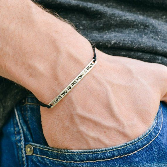21++ I love you to the moon and back mens jewelry ideas