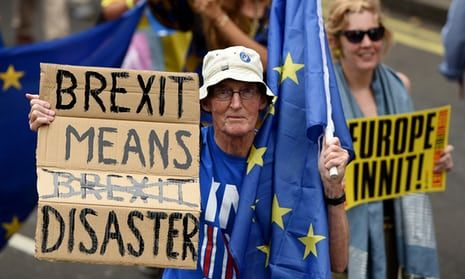 An anti-Brexit 'March for Europe' rally in London.