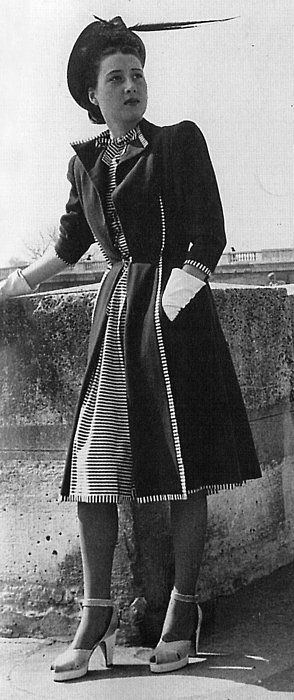 Fashion 1940s Two Female Models Flirty 40s Style Evening: 1627 Best Images About 1940s Fashion History On Pinterest