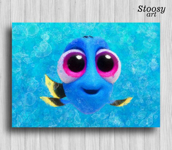 baby dory disney print nursery fishing decor finding dory finding nemo nursery wall art