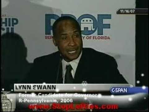 Speaking Out on Being a Black Republican. Rev. Wesley Leonard, Angela McGlowan, Lynn Swann and Michael Williams.