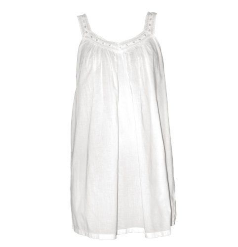 """What better choice for summer than a sleeveless """"shortie"""" nightgown like the super cute """"Lucy"""" women's nightgown from The Irish Linen Store."""