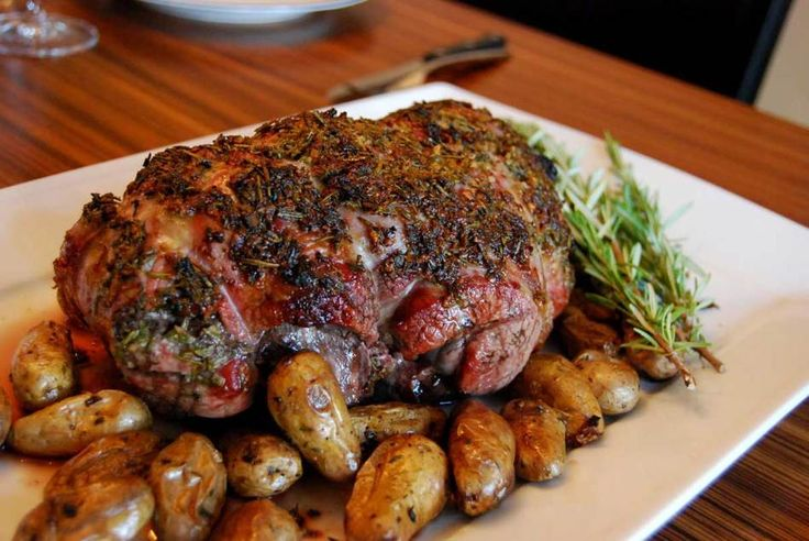 Skaapboud (roasted leg of lamb) – a traditional South African Sunday lunch.