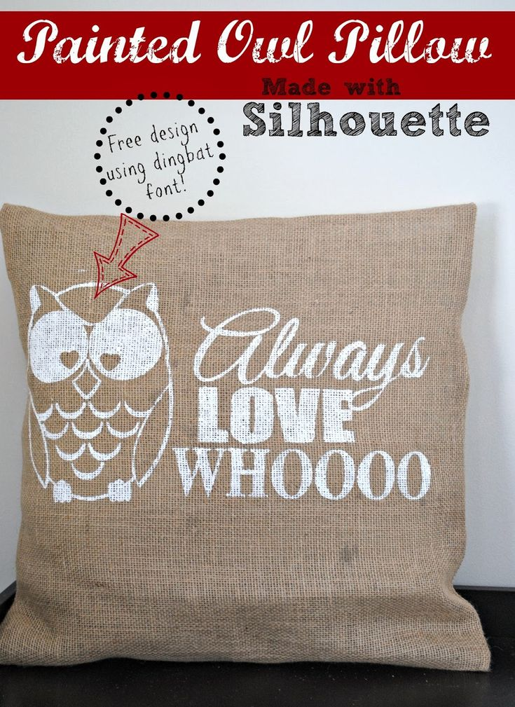 DIY Painted Owl Pillow Cover