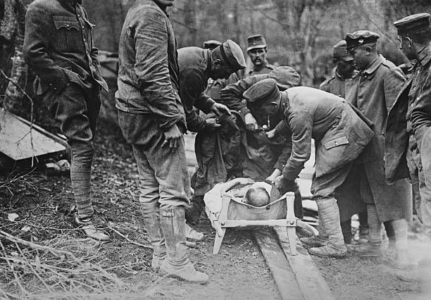 Moving Badly Wounded Man in Predeal Transylvania