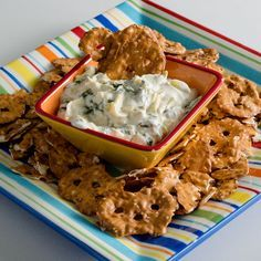 Spinach Artichoke Dip http://allrecipes.com/recipe/246599/spinach-artichoke-dip-from-pretzel-crisps/ #AllstarsSnackFactory #PretzelCrisps #ad Thanks Snack Factory® for providing the product!