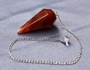 Carnelian Faceted Pendulum