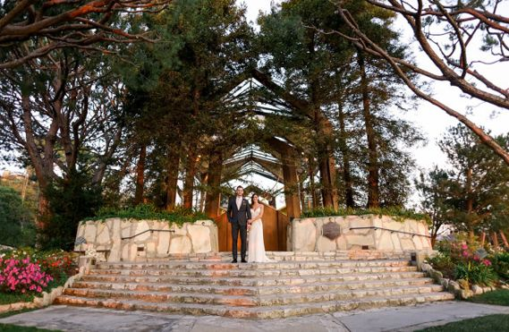 "Wayfarers Chapel in Palos Verdes where ""The Bachelorette"" Desiree Hartsock married Chris Siegfried"