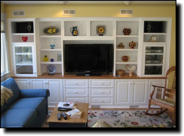 Family Room Built In Ideas Part - 32: Custom Cabinets - Entertainment Center - Media TV Center - Traditional - Family  Room - Dc Metro - Contemporary Woodcrafts, Inc.