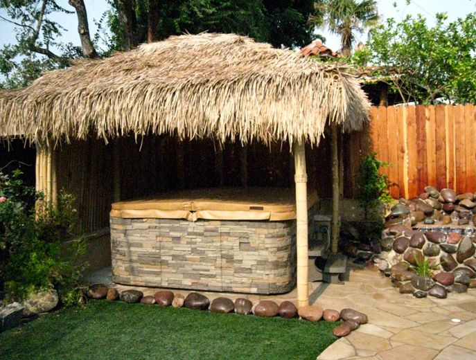 Tiki Hut Hot Tub Cover