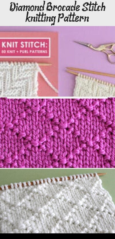 Diamond Brocade Stitch (knitting Pattern) - Embroidery ...