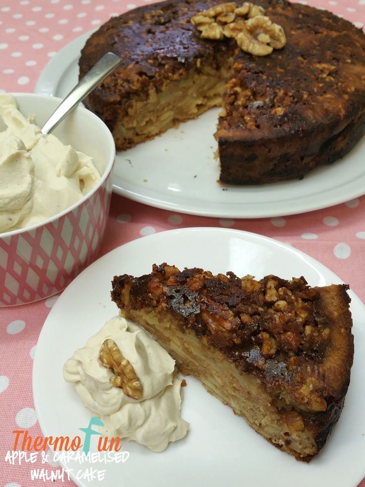 Thermomix Apple and Caramelised Walnut Cake - ThermoFun | Thermom