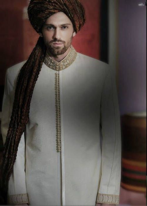 Latest Fashion Men Wedding Dresses & Sherwani Designs Collection by Amir Adnan | StylesGap.com