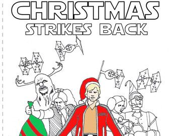 This is a graphic of Adaptable star wars christmas coloring pages