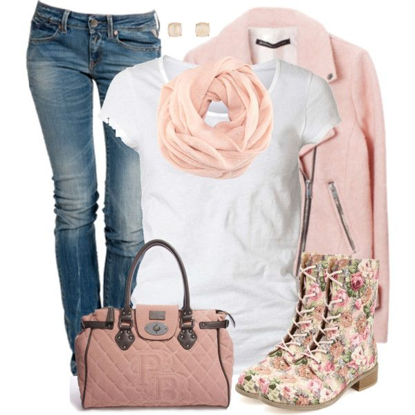 """Floral Combat Boots"" by daiscat on Polyvore"