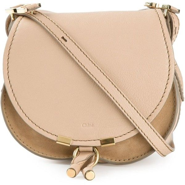 Chloe Beige Calf Leather 'Marcie' Crossbody Bag found on Polyvore