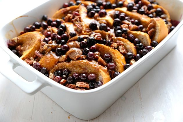 Tasty Kitchen Blog: Baked Blueberry Pecan French Toast. Guest post by Megan Keno of Country Cleaver, recipe submitted by TK member Melanie o...