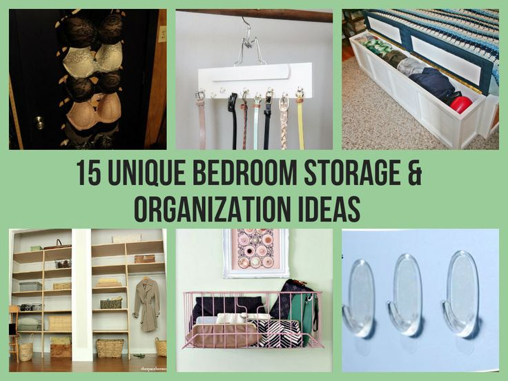 15 Unique Bedroom Storage & Organization Ideas
