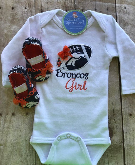 db5a3429 Denver Broncos Girl Shirt and Matching Booties | Baby Fever | Shirts ...