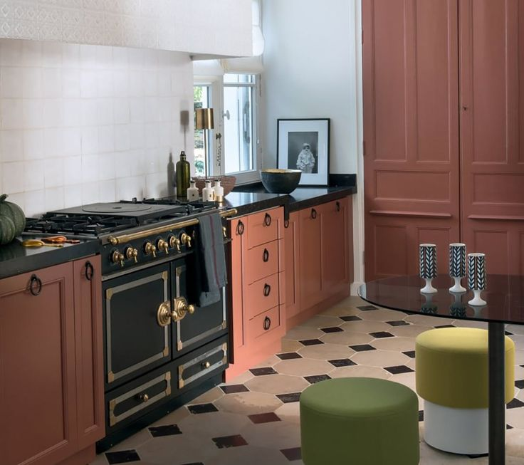 As part of a general trend towards kitchens with a more storied, old-world look, we're seeing the rise of what I like to call 'statement appliances' — ovens and refrigerators and range hoods that either are vintage (or look vintage) and fixtures that, instead of attempting to blend in, draw the eye and become a focal point of the kitchen.