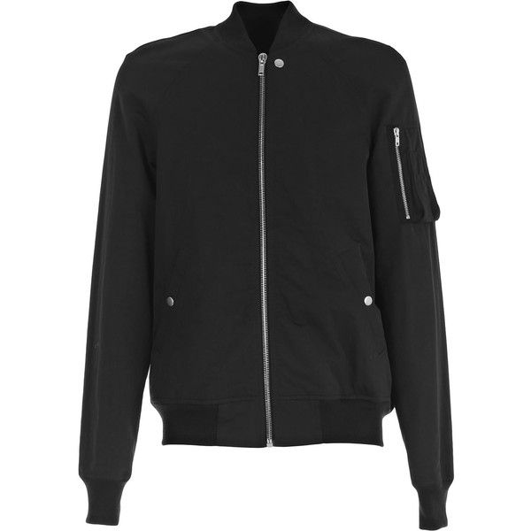 Jacket (€788) ❤ liked on Polyvore featuring men's fashion, men's clothing, men's outerwear, men's jackets, black, mens short sleeve jacket, mens bomber jacket, mens wool jacket and men's wool bomber jacket