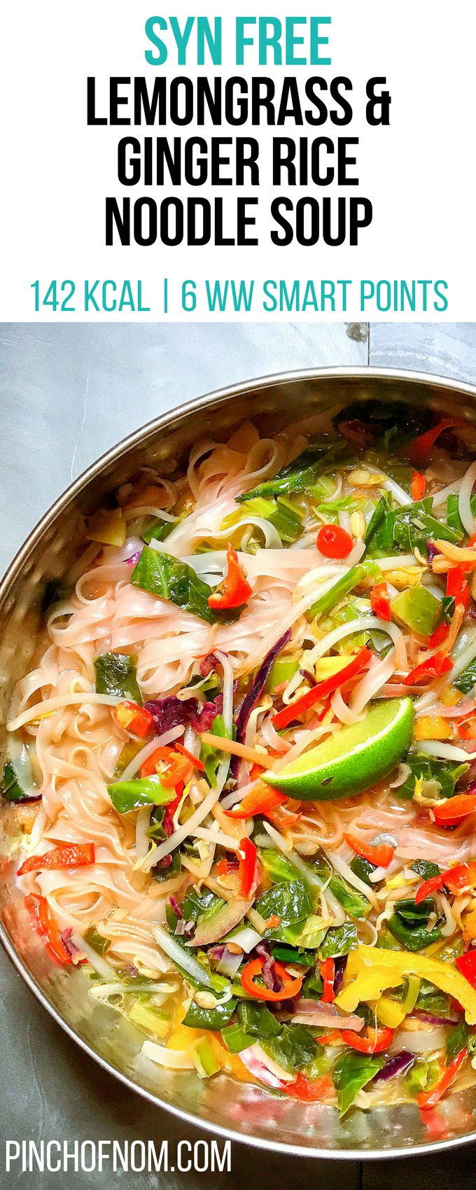 Syn Free Lemongrass & Ginger Rice Noodle Soup | Pinch Of Nom Slimming World Reci…