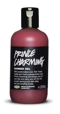 LUSH - NEW! Prince Charming shower gel ($11.90 for 100g / $19.90 for 250g / $29.90 for 500g) This sweet-scented, neon pink shower gel is fit for royalty. Marshmallow root and Fair Trade vanilla pod decoction forms the base, giving a very soothing experience, boosted by nourishing almond oil and cleansing, cooling and astringent fresh pomegranate juice. Prince Charming has a new fragrance of organic sandalwood, geranium and grapefruit essential oils. (Vegan)