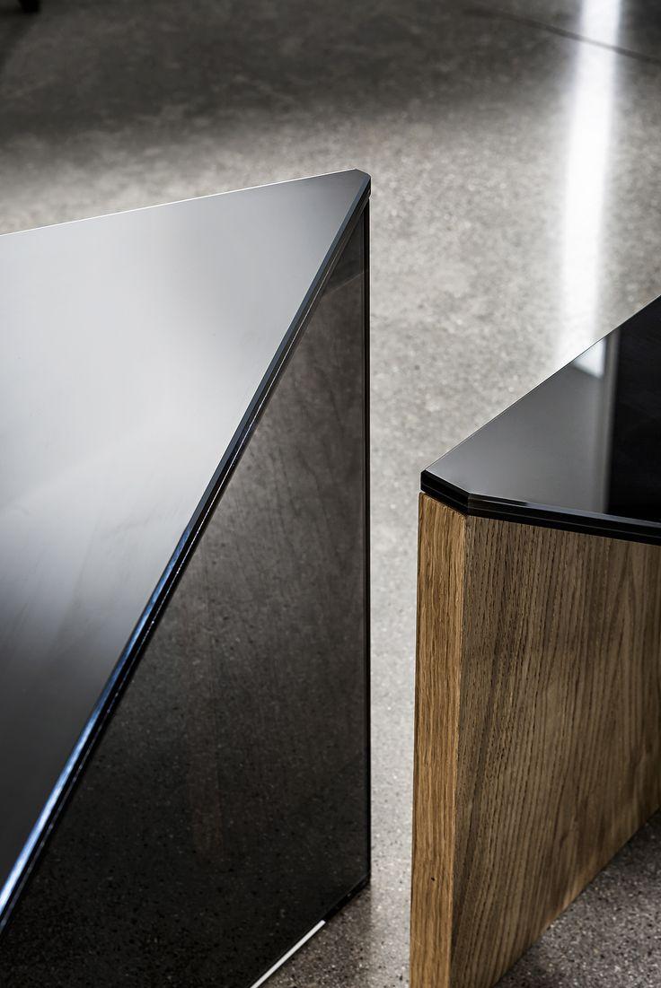 Regolo coffee table #detail #beauty #pureness  #design  by Lievore Altherr Molina http://www.sovet.com/it/tavolini/regolo-triangular