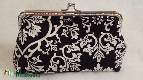 Meska - Fekete fehér mintás pénztárca solba66 kézművestől