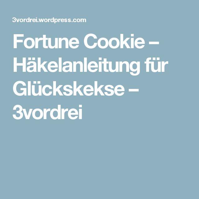 Fortune Cookie – Häkelanleitung für Glückskekse – 3vordrei