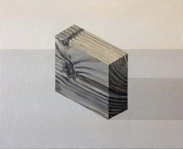 "Saatchi Art Artist: Stuart McHarrie; Oil 2014 Painting ""Wood Block 2"""