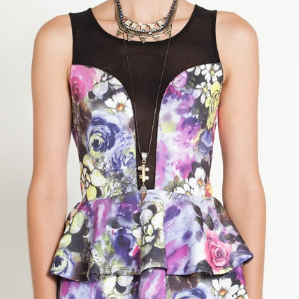Love this sheer and floral peplum top from Dotti! Perfect for those summer nights..