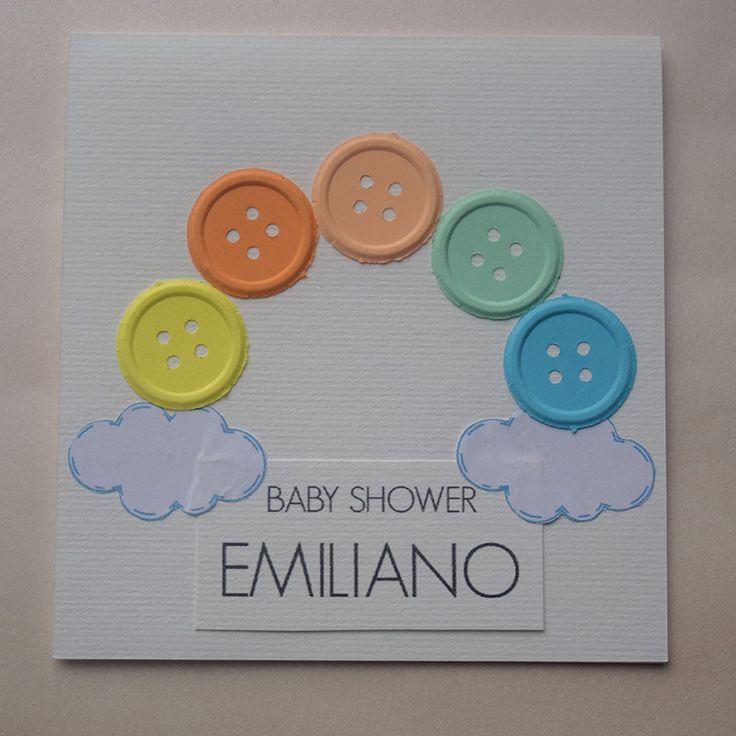 """Invitación para Baby Shower y Bautizo """"Colores"""""""