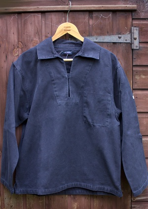Tails and the Unexpected - Nemo II Vareuse Breton Fishermans Smock by Saint James in Navy Blue or Brick Red