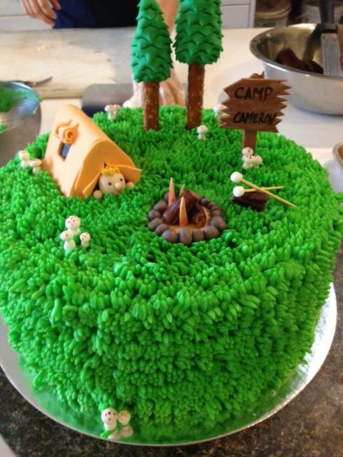 Camping Cake for that specially theme party - by Yorkshire Pudding Catering