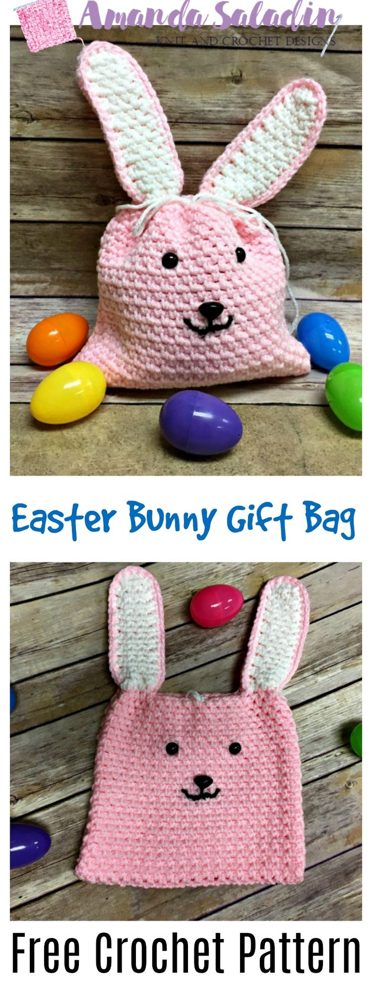This free crochet pattern for the Easter Bunny Gift Bag is sure to please a little one in your life - super easy to make, too!