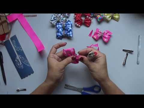 Laço de Gorgurão   Laço  Mil Faces    DIY  PAP  TUTORIAL  Iris Lima - YouTube