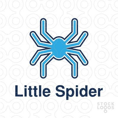 spider logo design, (creative, creativity, clothing, material, insects, species, kids, communication, toys, services, webs, network, etc
